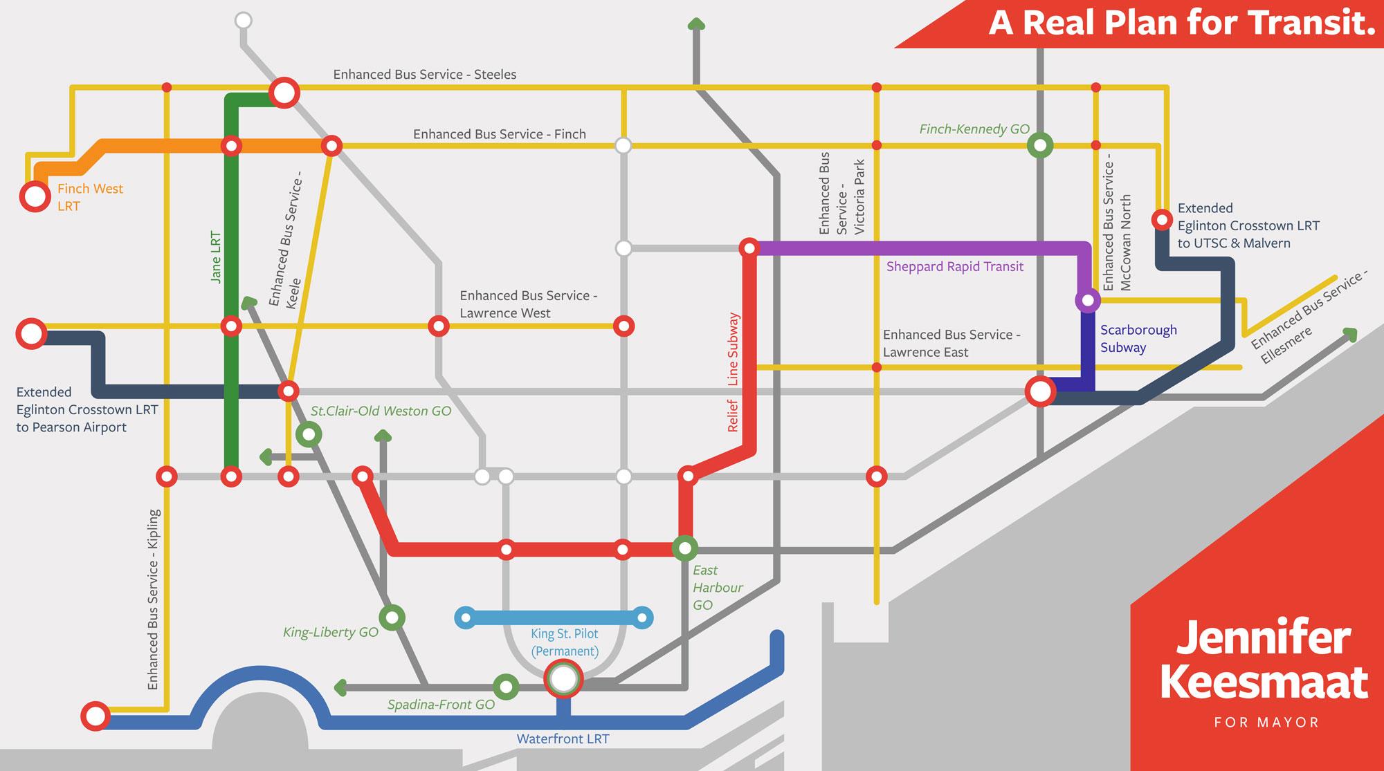 Toronto Subway Map App.Keesmaat Unveils Her 50b Transit Plan For Toronto
