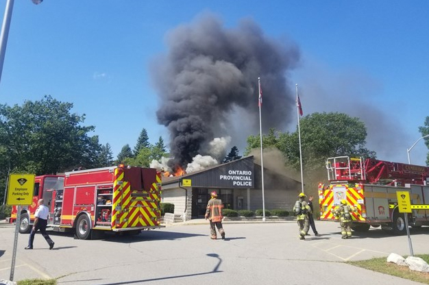OPP detachment in Cambridge destroyed by flames