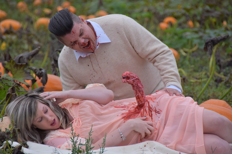 Couple From B C Recreate Alien Birth Scene For