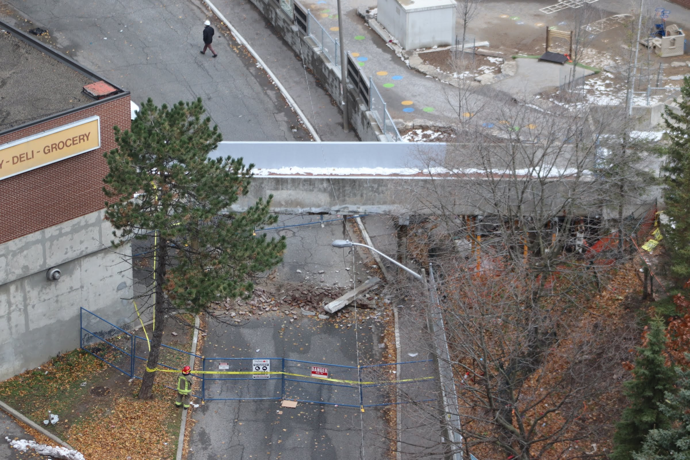 No injuries after pedestrian bridge in east end partially collapses