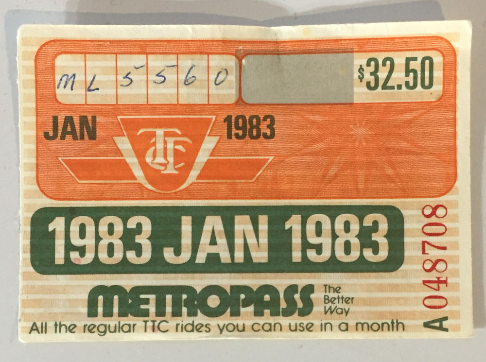 The Metropass in the '80s was made out of paper. Photo: CityNews