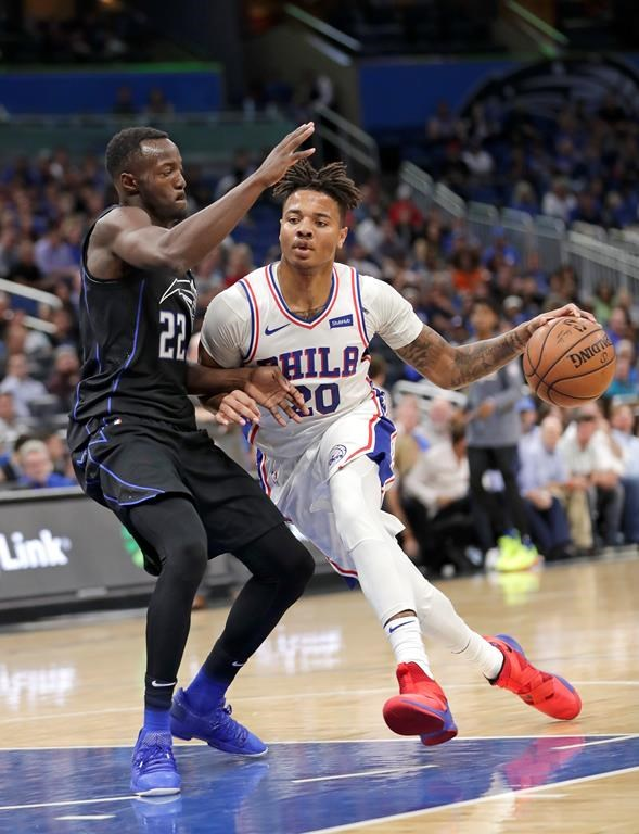 5763eb0f649 76ers' Fultz set to sit out until right shoulder examined