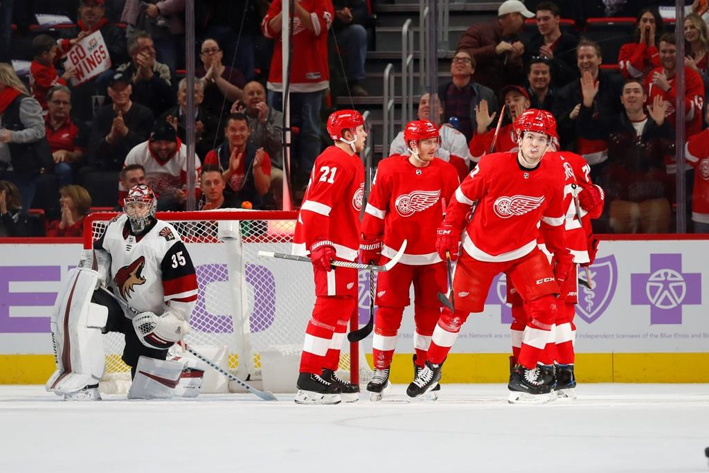 new style f9d44 19ba0 Green leads Red Wings to 6-1 win over Coyotes