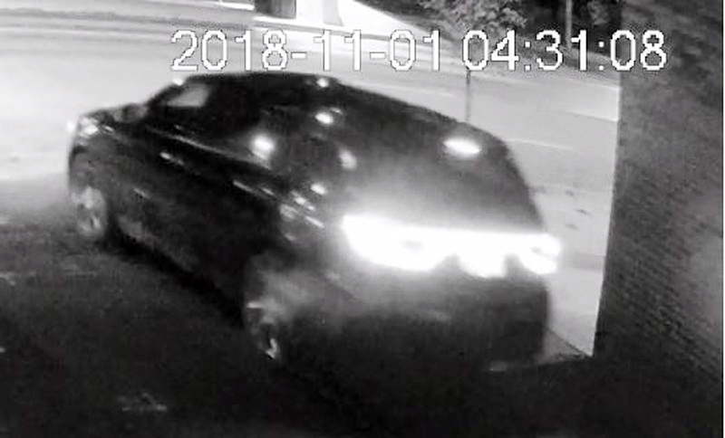 A security camera photo of a Dodge Durango believed to have been used by suspects in a shooting in Toronto on Nov. 1, 2018. HANDOUT/Toronto Police Service