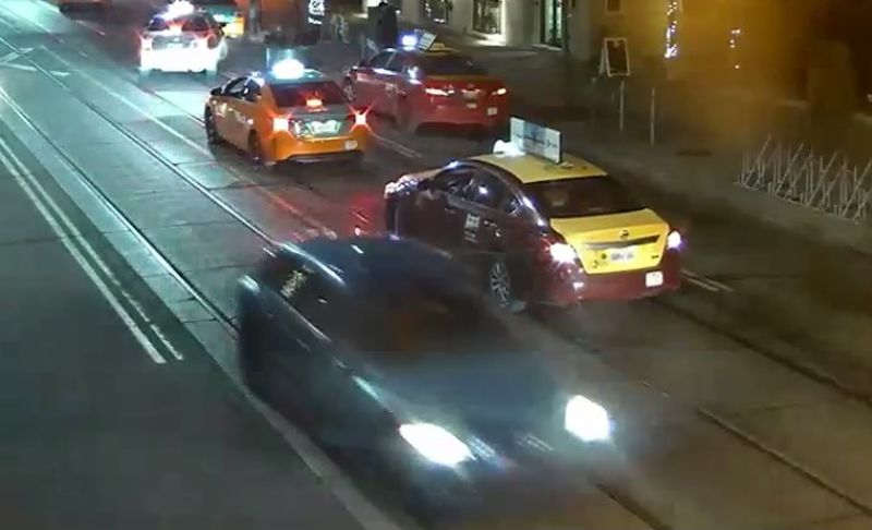 Security image of a suspect vehicle involved in a fatal shooting at King Street and Spadina Avenue on Dec. 19, 2018. HANDOUT/Toronto Police Services.