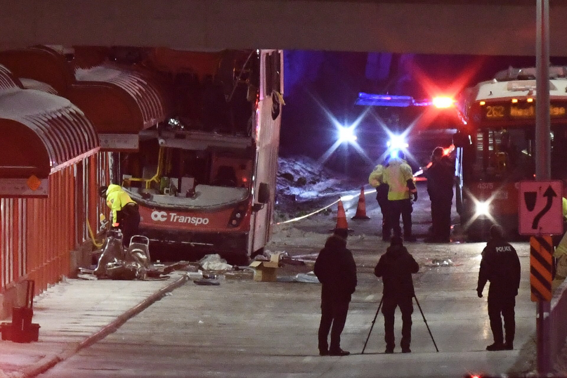 Three dead in double-decker bus crash in Ottawa