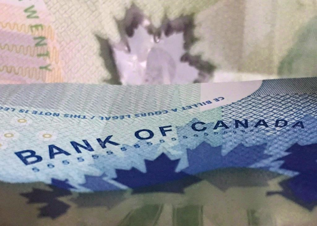 Canadian bank notes are seen in Ottawa on Sept. 6 2017. THE CANADIAN PRESS  Adrian Wyld