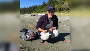 Angela Rehhorn is seen in an undated photo posted on Twitter by the Canadian Wildlife Federation.