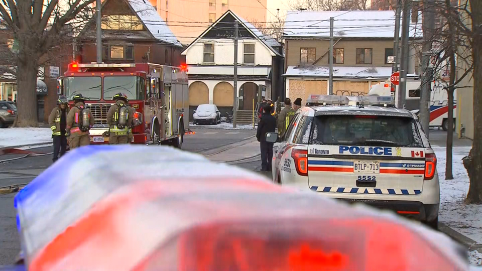 Emergency crews at Broadview Station for a second day after another suspicious package was found on March 19, 2019. CITYNEWS