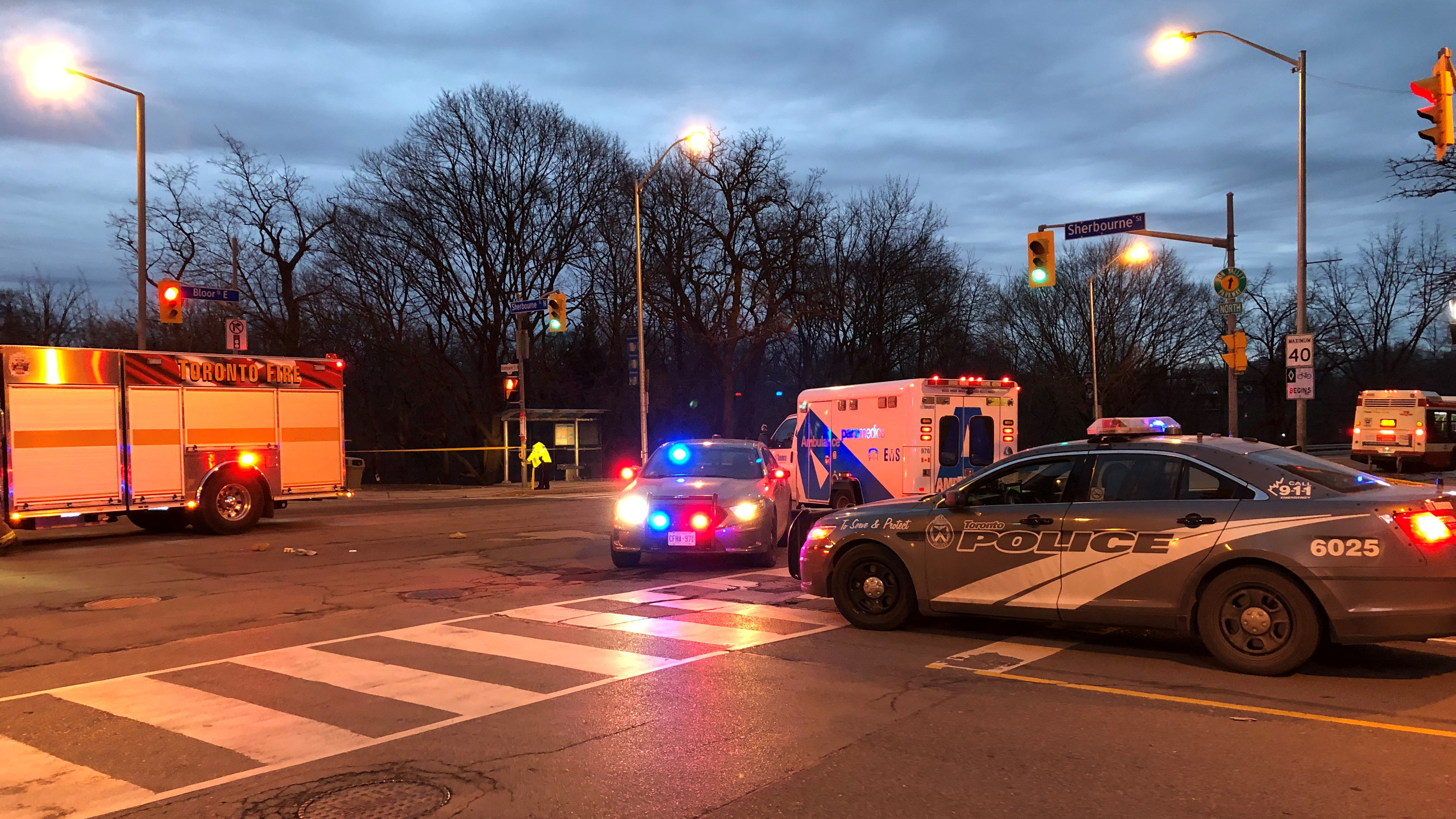 Pedestrian fatally hit by vehicle at Bloor and Sherbourne