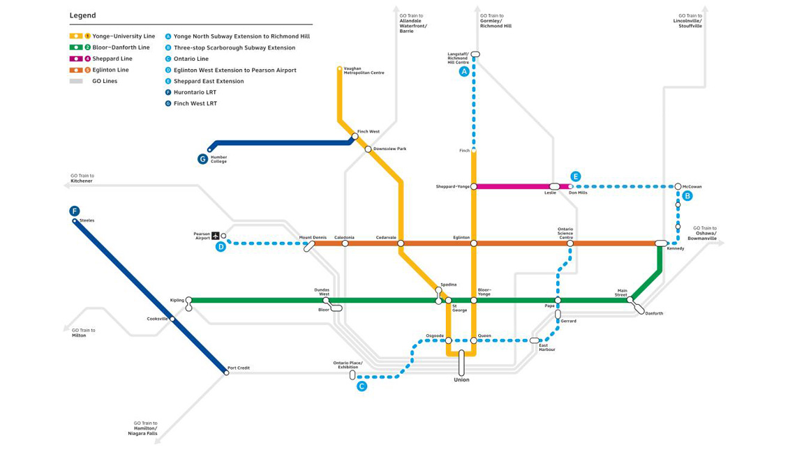 Toronto Subway Map App.Toronto Councillors Want More Answers From Province On Transit Plan