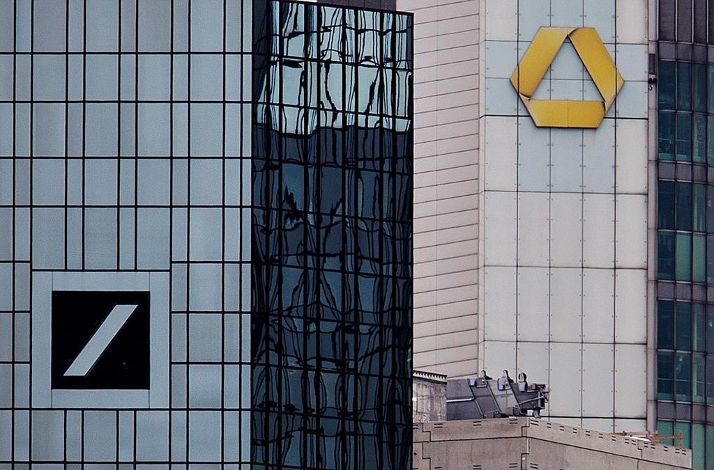 Deutsche Bank earnings up in 1st quarter but revenues drop