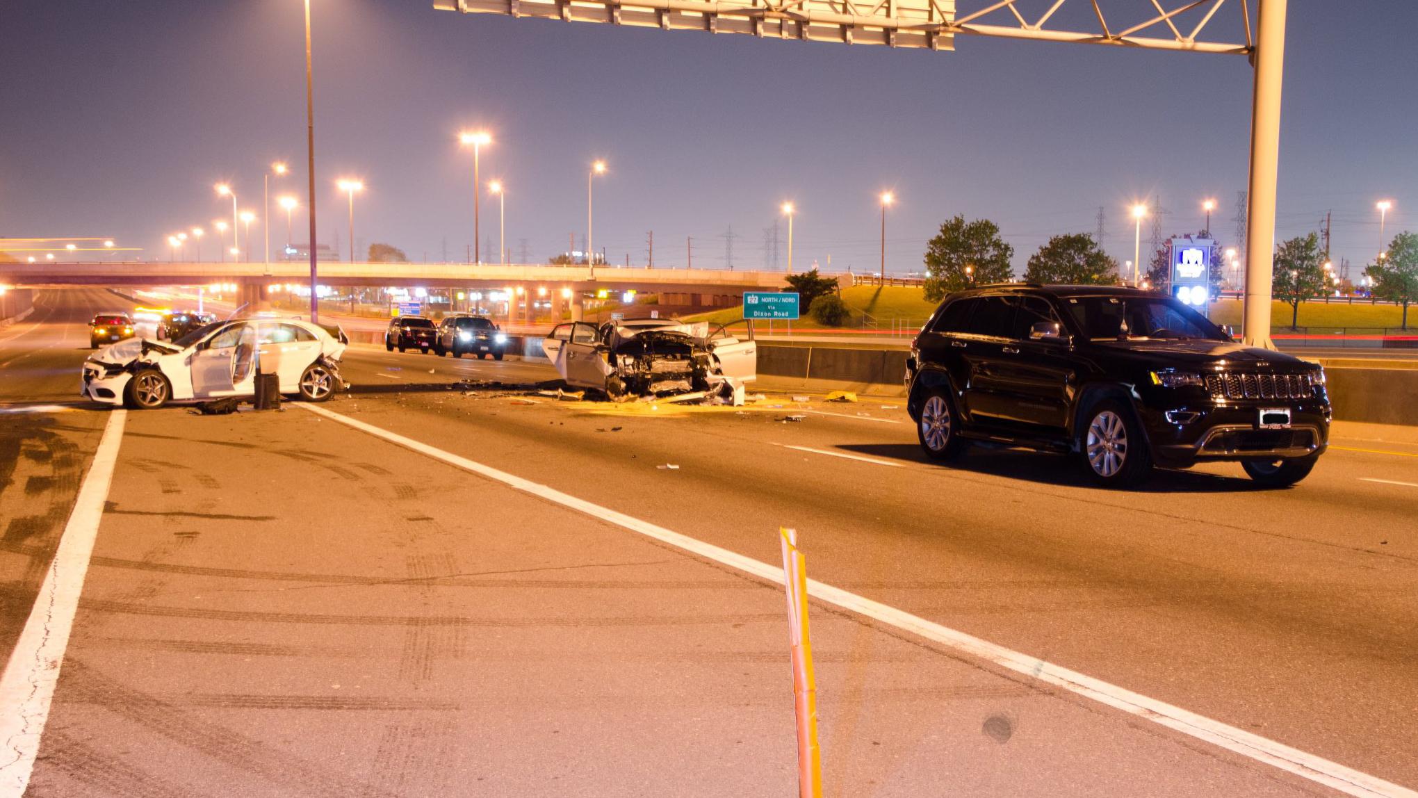 Woman, 32, killed in three car crash on Highway 401