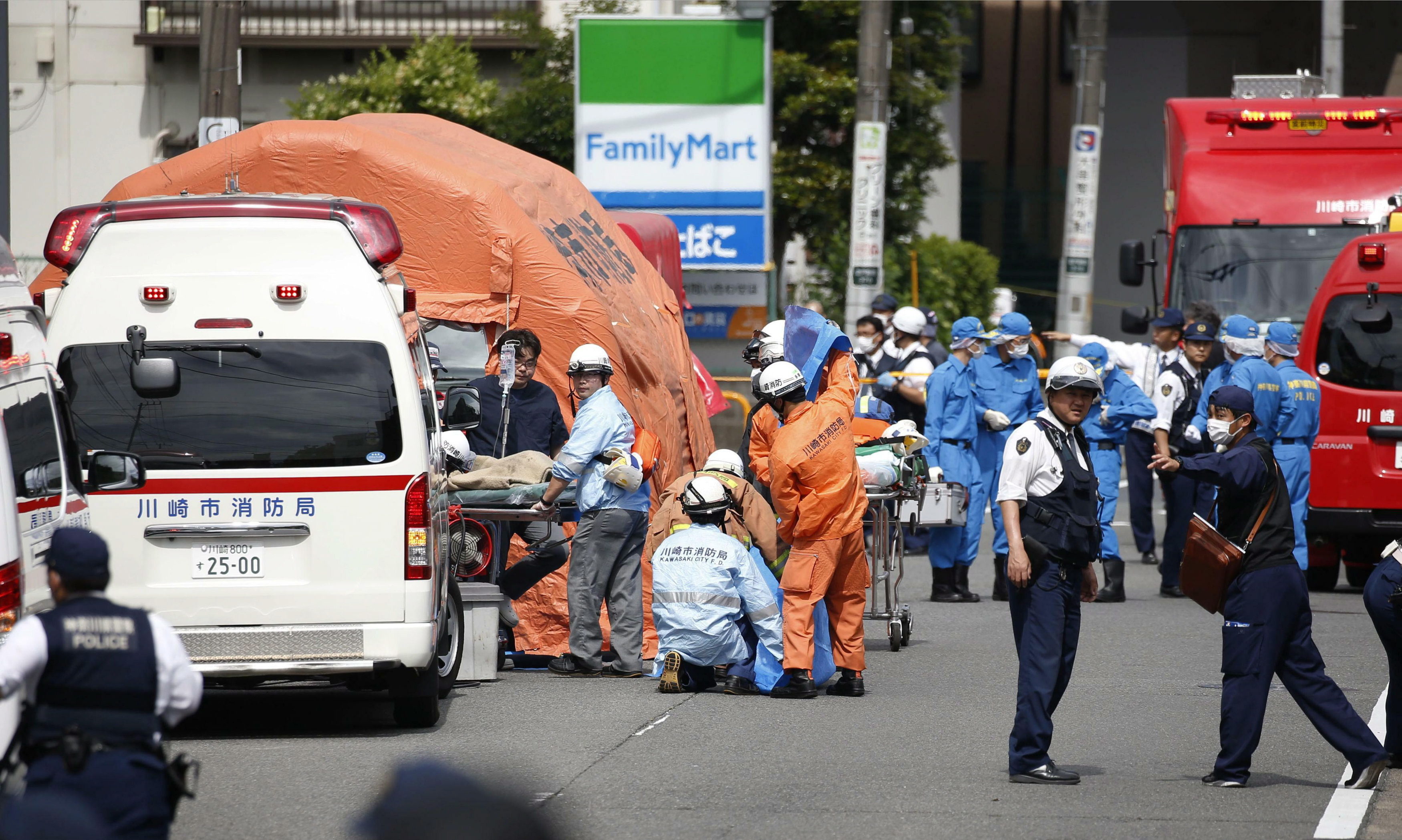 Japan attack: Child among three dead in mass stabbing