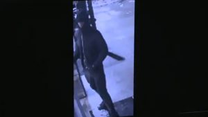 Security camera image of a suspect wanted in connection with a robbery at a gas station at Front Street East and Sherbourne Street on June 13. HANDOUT/Toronto Police Service