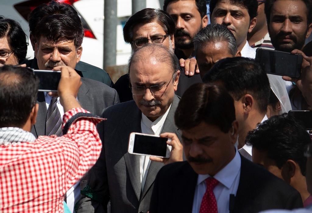 The Latest: Pakistan arrests ex-President Zardari
