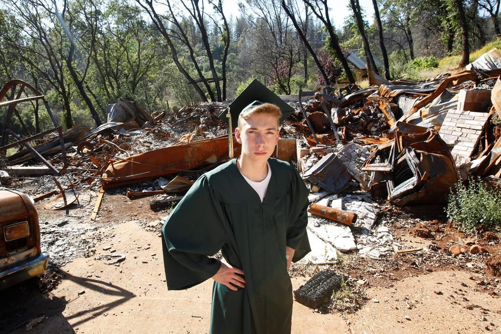 From fire and ash to caps, gowns: Graduation in burned town