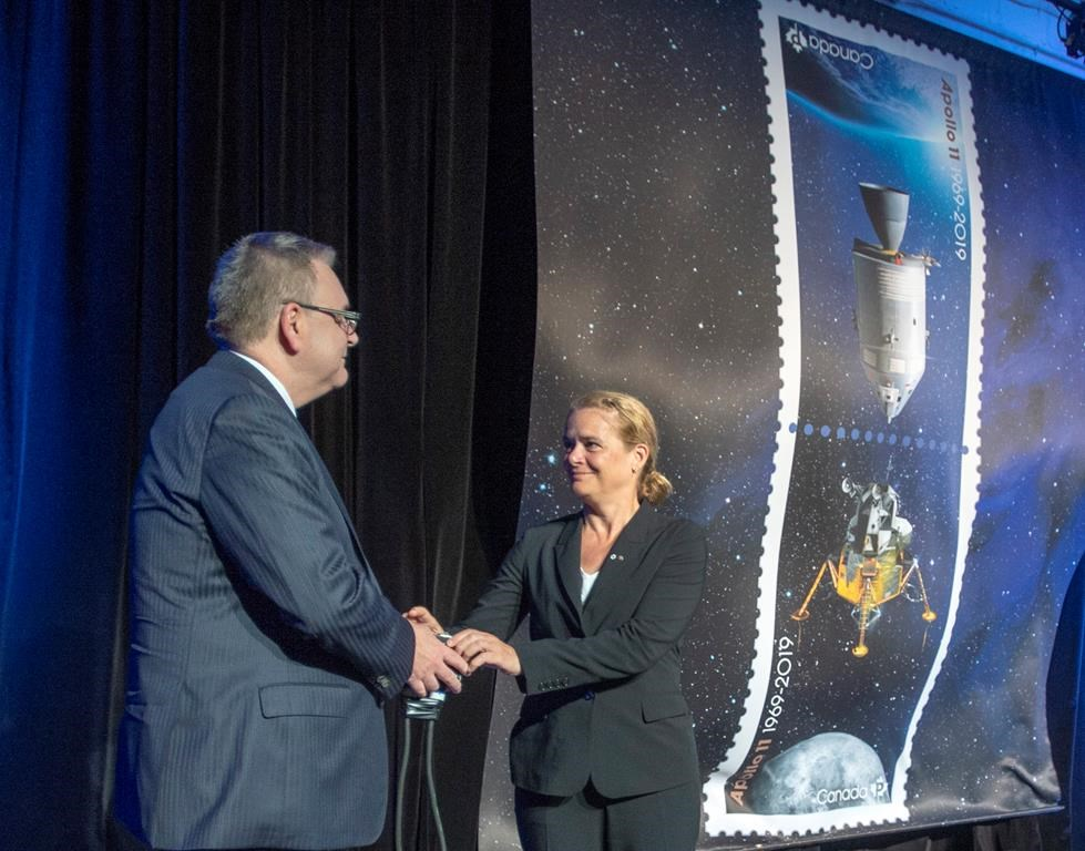 Stamps mark Canadian contribution to Apollo 11 moon mission