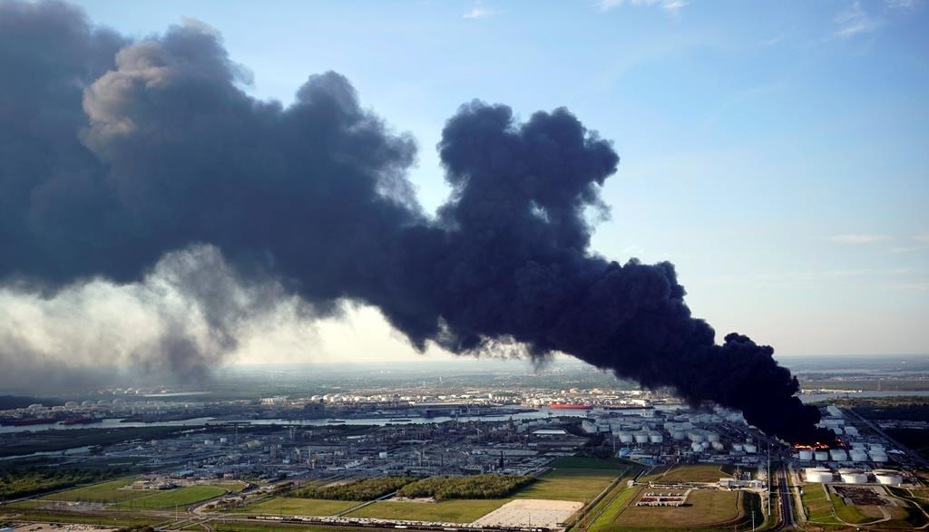 Texas petrochemical facility fire creates millions of waste