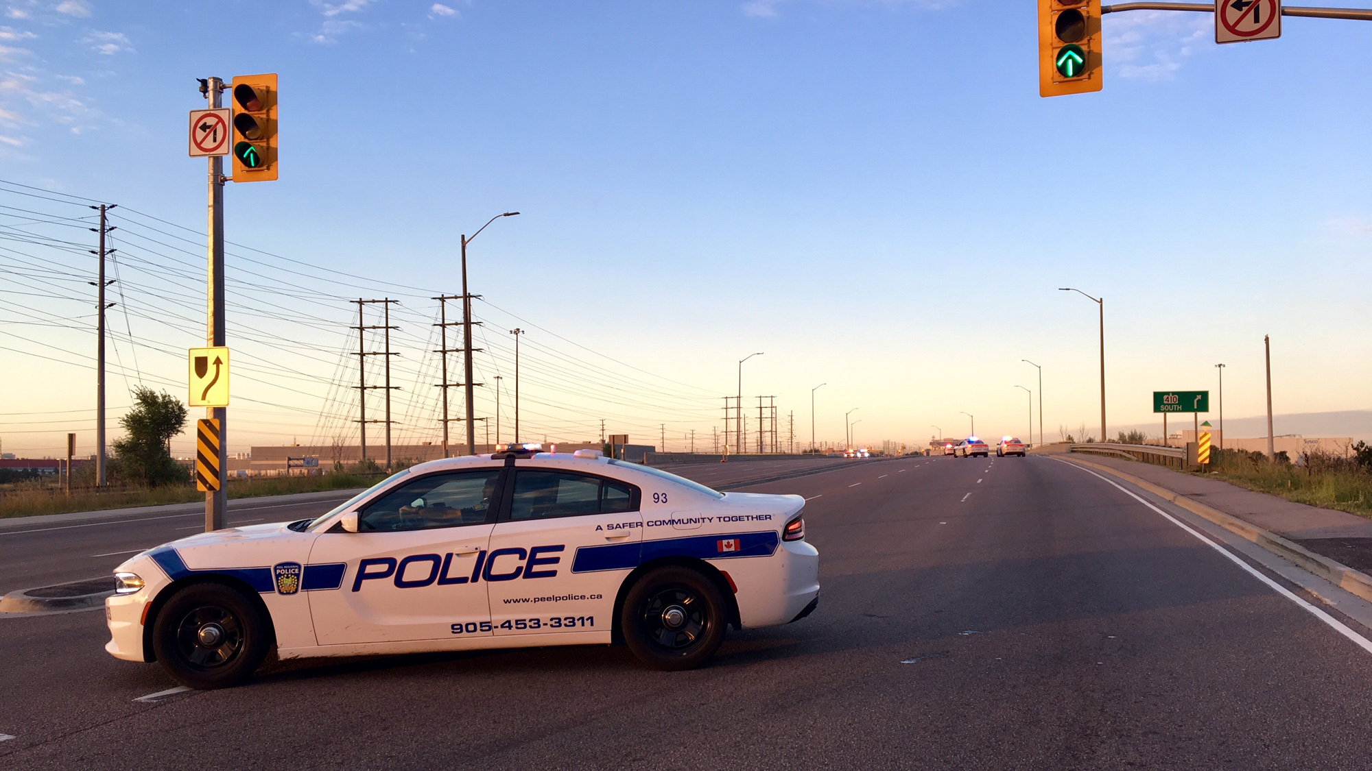 Southbound Hwy  410 reopens at Derry Road following fatality