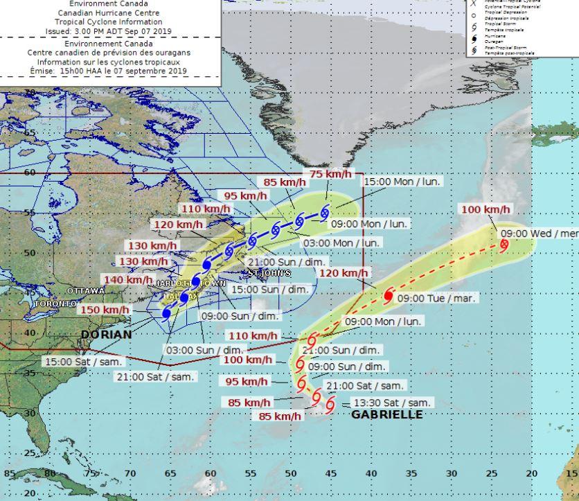 Hurricane Dorian expected to make landfall in Nova Scotia