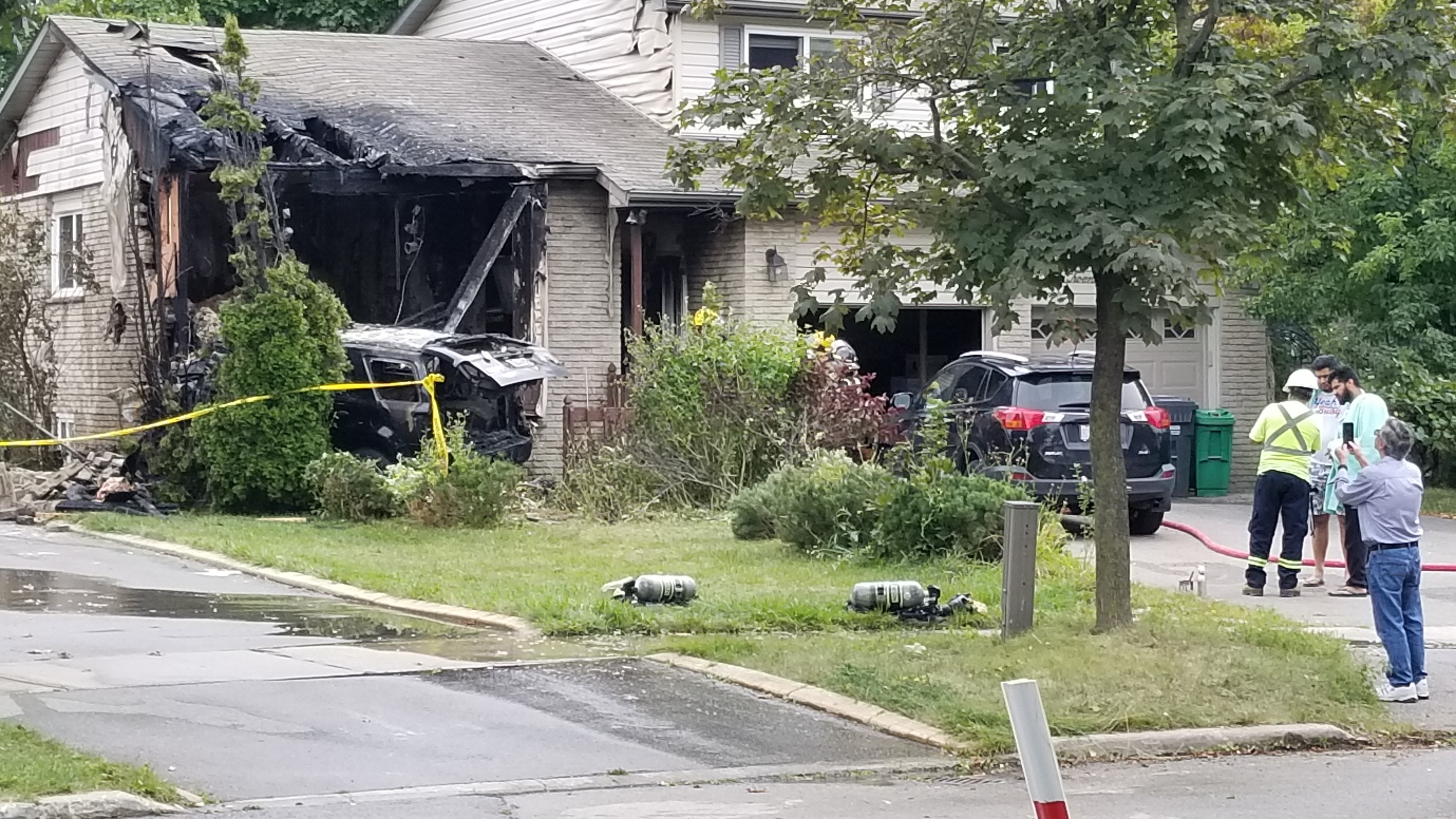 Mississauga home struck by vehicle suffers extensive fire