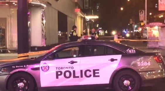 Shots fired outside Eaton Centre