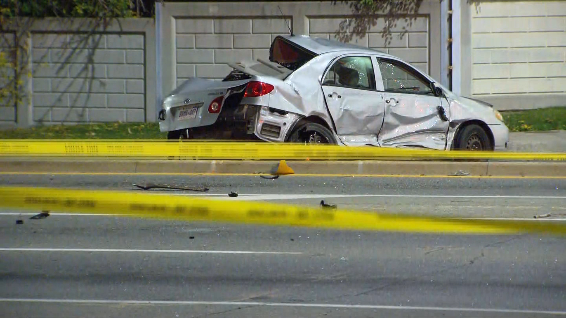 1 injured in 2-vehicle crash in Brampton