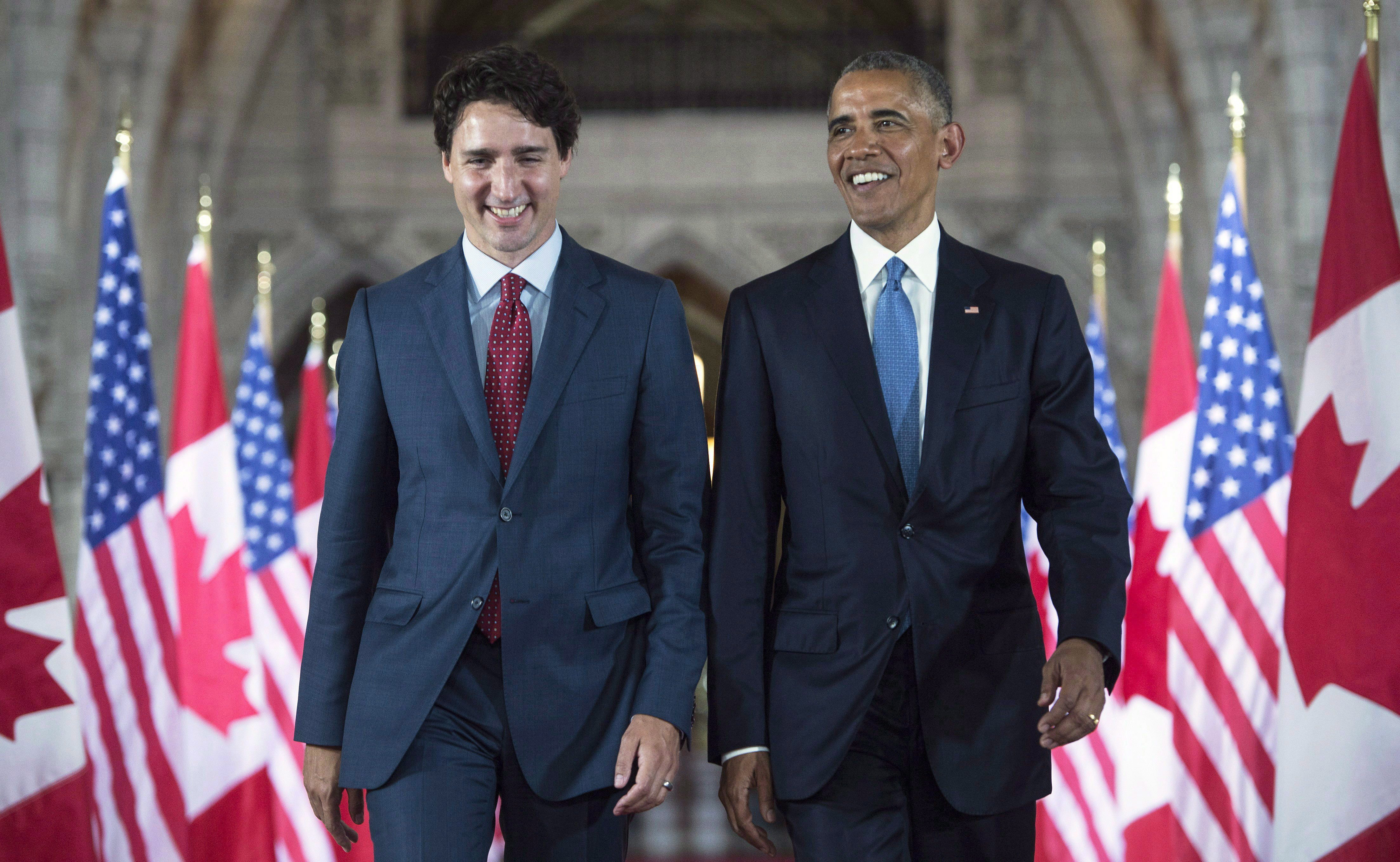 Barack Obama endorses Trudeau for second term