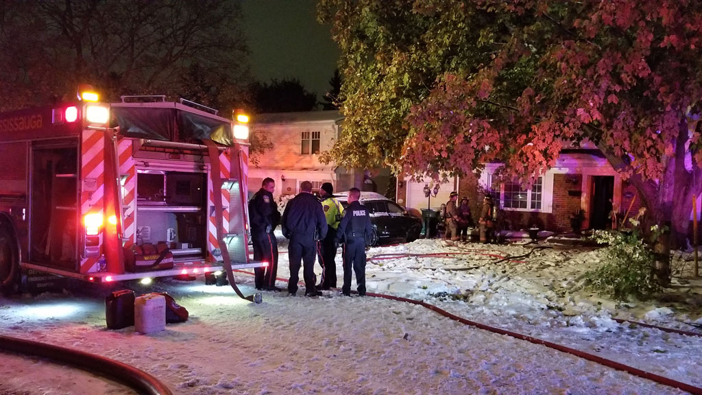 Woman in hospital, dog missing after house fire in Mississauga