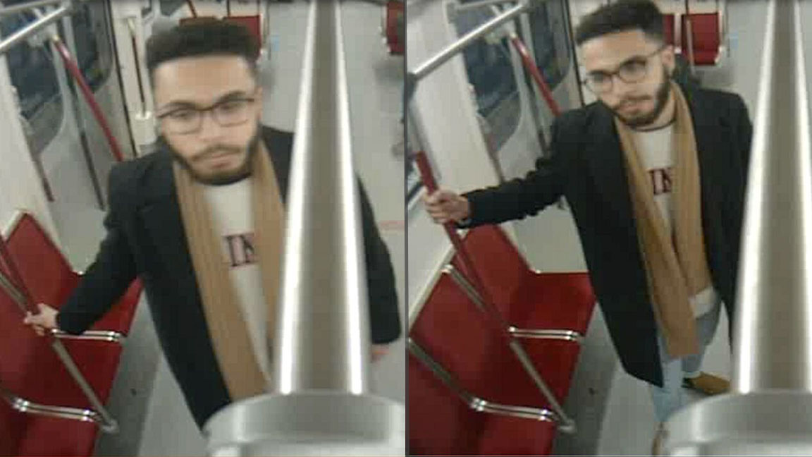 Photos released of man wanted for Valentine's Day assault on subway train - CityNews Toronto
