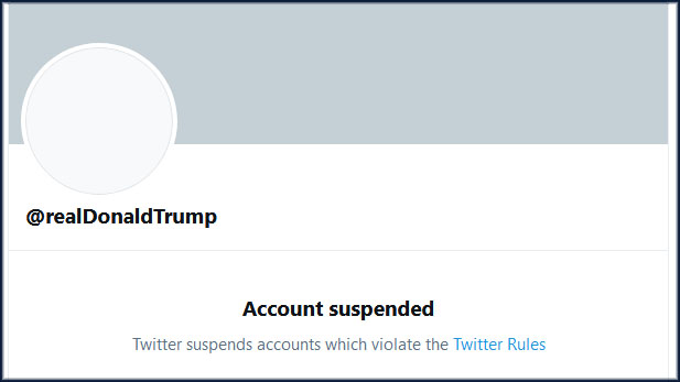 Donald Trump permanently suspended from Twitter